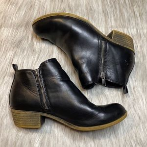 Dunes Dolly Side Zip Ankle Booties Size 7.5